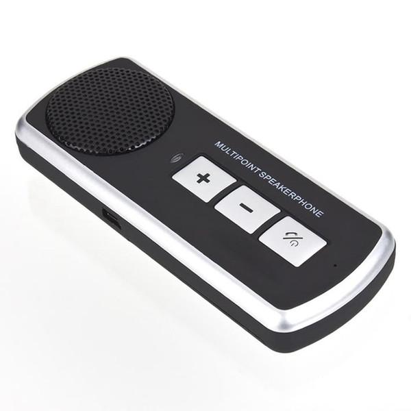 Altoparlante Vivavoce Bluetooth per auto Bluetooth Car Kit vivavoce Altoparlante USB Altoparlante multipunto per cellulare Kit veicolare Spedizione gratuita