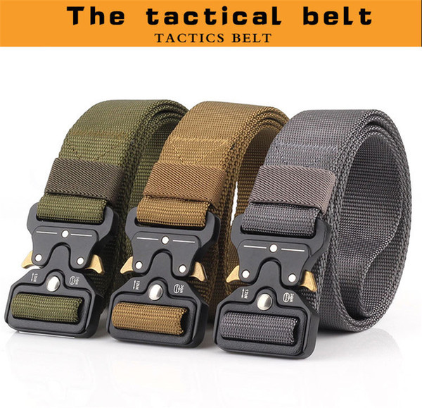 10 Color Heavy Duty Tactical Gear Out Belt Nylon Metal Buckle Swat Molle Padded Patrol Waist Belt Tactical Hunting Accessories