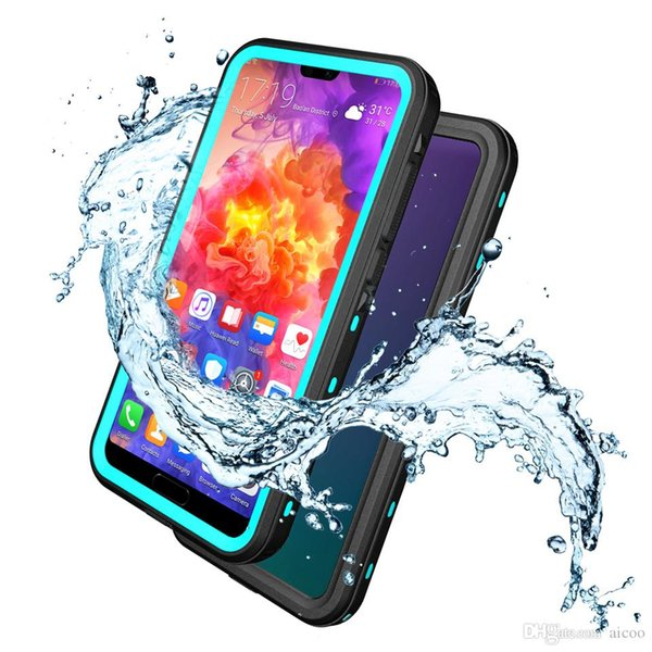 AICOO Waterproof Armor Hybrid Heavy Duty IP68 Phone Case Swimming Shockproof Snowproof Phone Cover For Huawei P20 Pro Retail Package