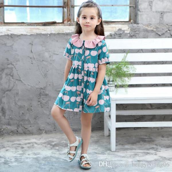Yeni Kızlar Longuette pamuk Kırık çiçekler Elbise Elbiseler Kız Gelinlik Modelleri Yaz Prenses Elbise en kaliteli 4-20