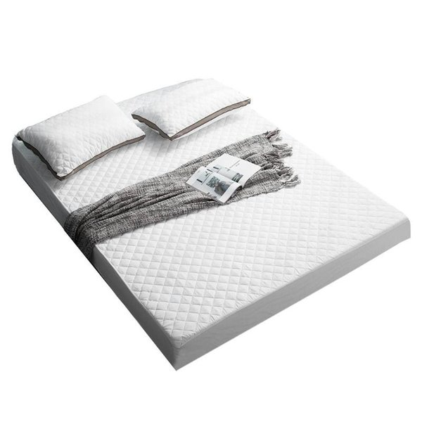 Fitted Sheet Mattress Cover White Sheets Bedding Linens Bed Sheets With Elastic Band Non-Slip Protector Bedsheet 180x200x25cm