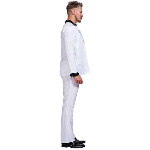 Heap Holidays Costumes Retro Night Fever Dancer 80s Disco Dance Costume Men  Fancy Dress Club Clothes Halloween Costume Adult Vintage Perf Christmas