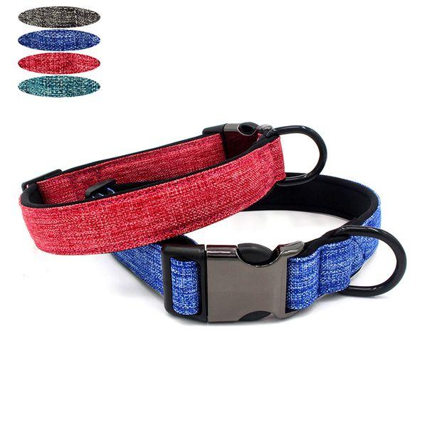 Dog Pet Cat Dog Collars Cat Collars Adjustable Rivets Solid Collar Pet Supplies accessories dropshipping S M L Z621