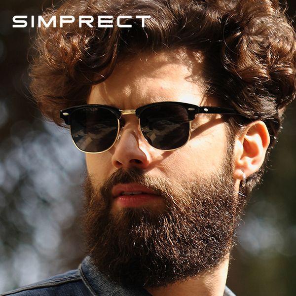 Venta al por mayor 2019 gafas de sol retro de los hombres polarizados UV400 alta calidad Square HD Mirror Gafas de sol Vintage Lunette De Soleil