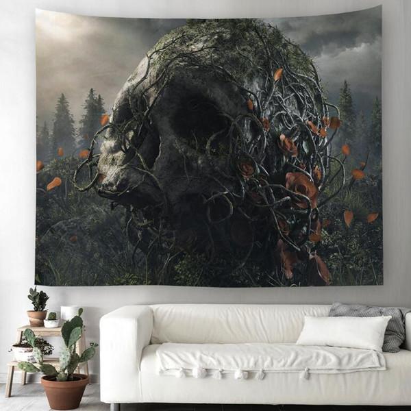 Skeleton 3D Kreative Muster Tapisserie Ployester Wandbehang Tapisserie für Wanddekoration Stoff Hause Hintergrund Tuch Yoga Matten H412