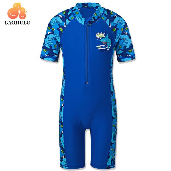 Baohulu Shark Character Kids Swimwear (upf50+) Swimsuit One Piece Boy Children Bathing Suits Swimming Suit For Boys 3-10 Years Y19072401
