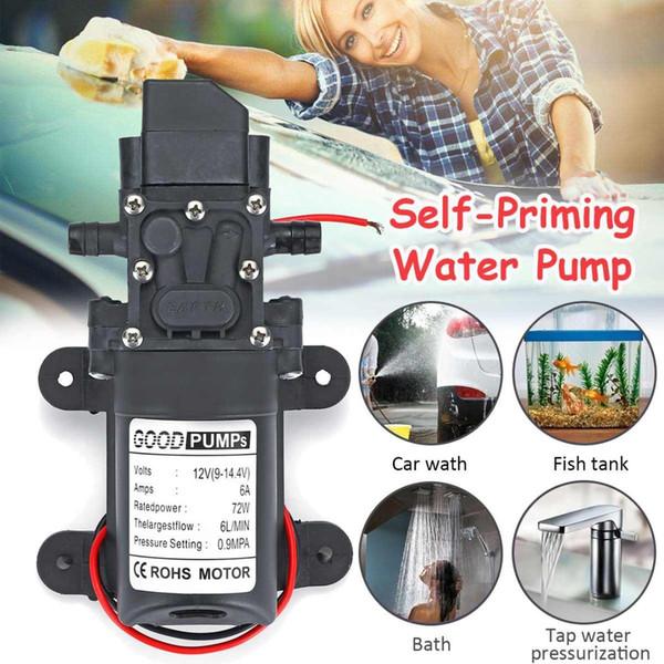 70W 6Lpm 12V High Pressure Diaphragm Self-Priming Electric Car Wash Pump Automatic Switch Mini Water Pump for Aquarium Fish Tank
