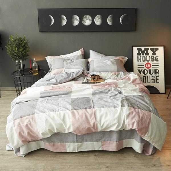 New Classic Fashion 4Pcs S King Size Bed Quilt//Duvet//Doona Cover Set 100/%Cotton
