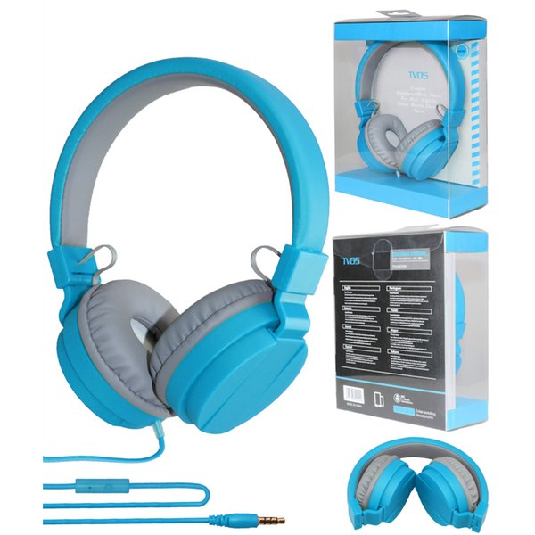 Cute Fashion Candy Color Headphones Folding Earphone with Mic Stereo for Mp3 Player Smart Phone good quality