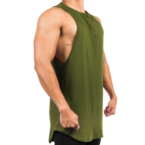 Fashaiualy Männer ärmelloses Tanktop Bodybuilding Sport Fitness Weste debardeur homme