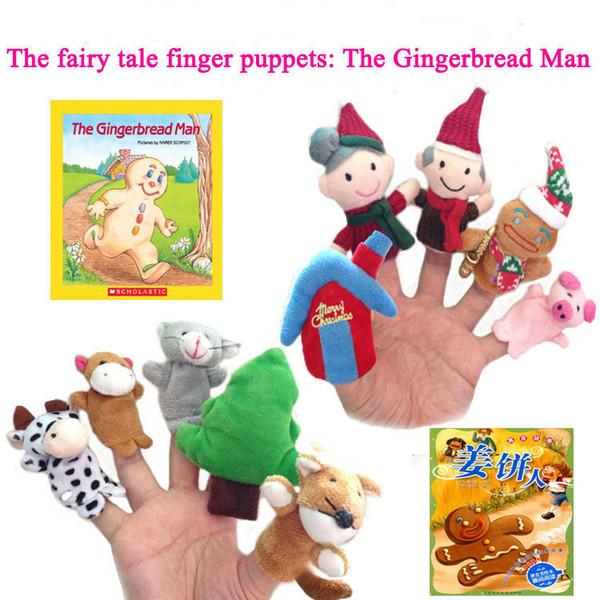 40 Entwürfe Weihnachten Finger Puppets Plüschtiere Weihnachtsmann Puppen Plüschtiere Weihnachten Charaktere Familie Finger-Sets Eltern-Kind-Spielzeug