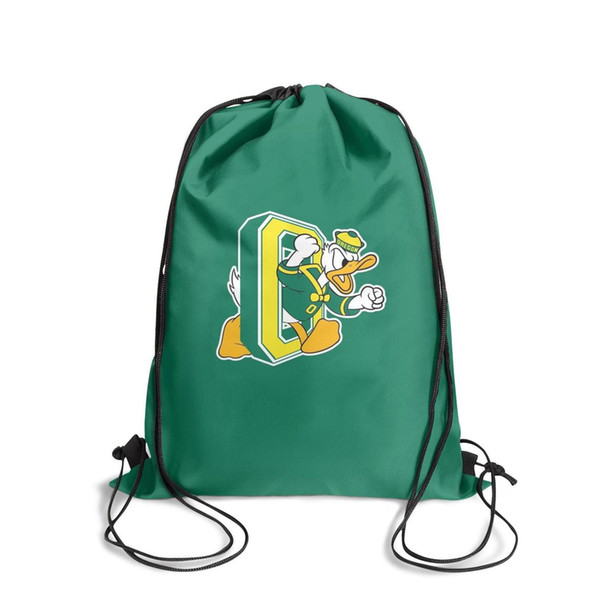 University of Oregon DucksFashion sports belt backpack, design pop pattern durable and convenient string package, suitable for sports