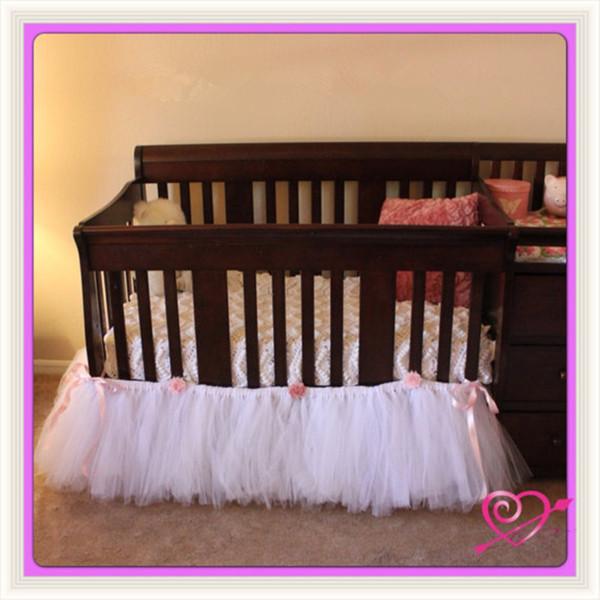 Baby Bedding Newborn Tutu Bed Skirt Baby Products Decorations Custom Color L100cm*W60cm*H40cm