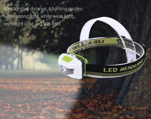 4 Modes 1200 Lumens Headlight Mini Water Resistant Head Light Lamp cycling LED headlamps for outdoor fishing hiking camping