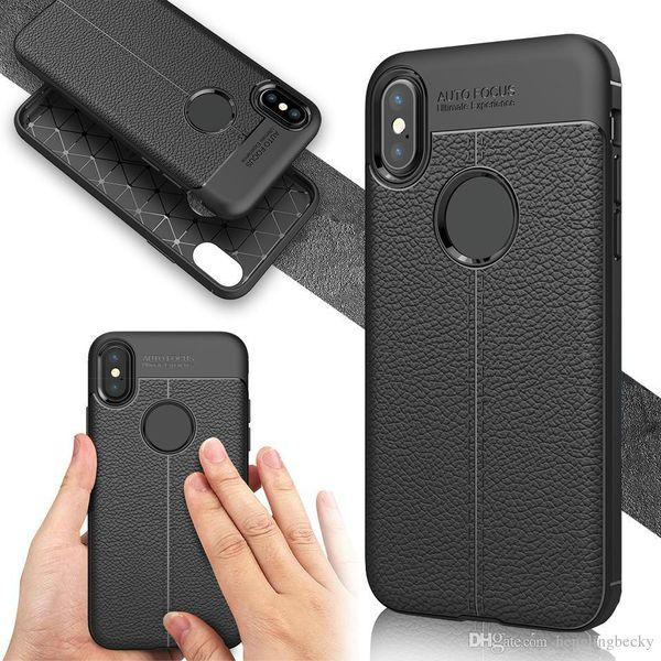 top téléphone cas pour iphone XR XS Max X 8 7 Samsung S9 Note 9 J4 J6 J3 2018 Huawei P20 Pro Lite Antichoc Modèle De Motif En Cuir Silicone