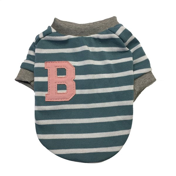 French Dog Clothes Spring Fall Bullfighting Small Puppy Pet Dog Costume Summer Dress Ba Striped T-shirt
