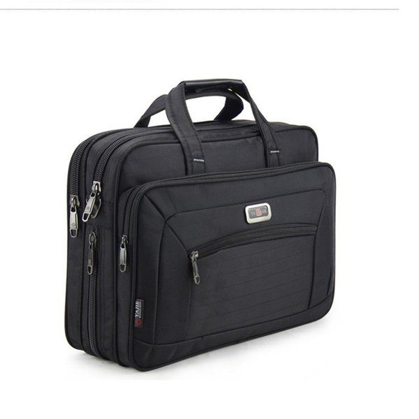 "Quality Men's Briefcases Brand Men Business Handbags Waterproof Durable Oxford 15.6"" Laptop Bags Boys Shoulder Files Books Bag Y190627"