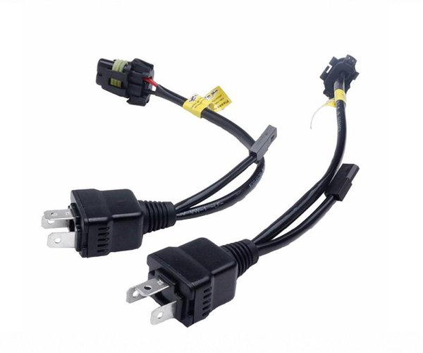 2 X Easy Relay Harness control cable For bi xenon H4 Hi/Lo Bi-Xenon HID Bulbs Wiring Controller 1 for 1 h4 socket