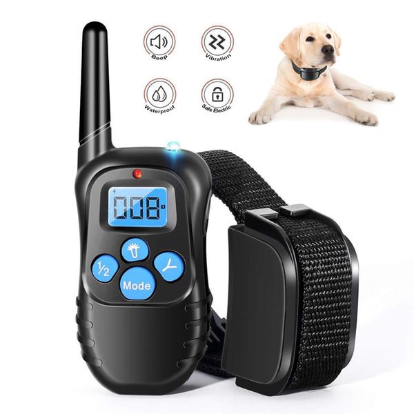 Collier de dressage de chiens - Collier rechargeable chien choc w / 3 modes de formation, Bip, vibrations et chocs, 100% Collier de dressage imperméable à l'eau,