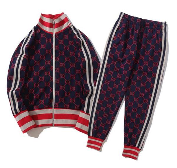 Yüksek Kaliteli wimen erkek Set Basit ceket ve pantolon tasarımcısı eşofman