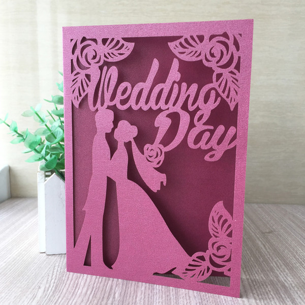 Hollow Laser Cut Wedding Invitation Cards Bride And Groom Ceremony Engagement Invitations Blessing Lovers Gifts Supplies Create Your Own Wedding
