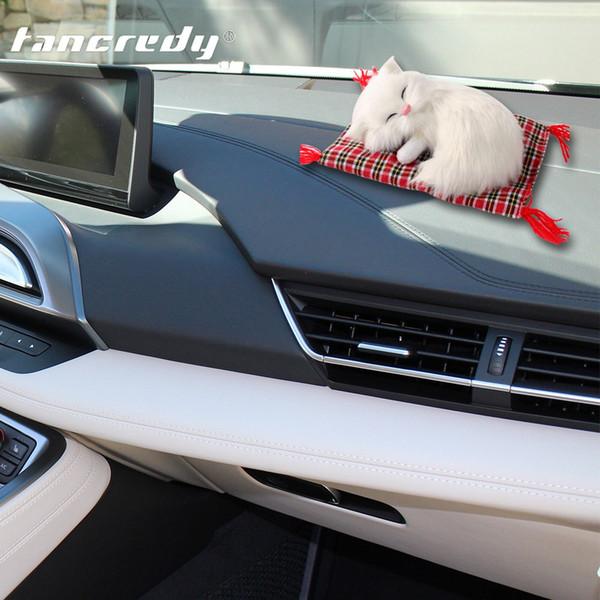 Tancredy автомобилей украшения Cute симуляторы Спящие Кошки украшения Автомобили Прекрасные Плюшевые котята Игрушки Детские подарки Аксессуары