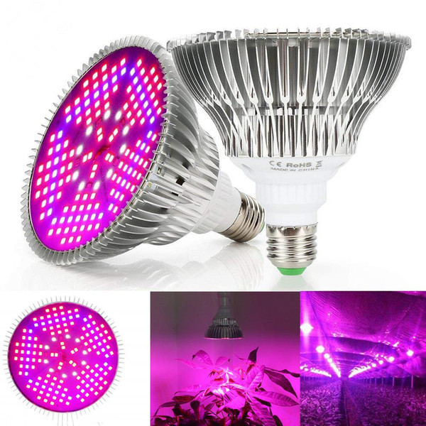 Full Spectrum E27 LED Grow Light Bulb 100W Rojo Azul UV IR LED Lámpara de cultivo para flores de hidroponía Plantas Vegetales