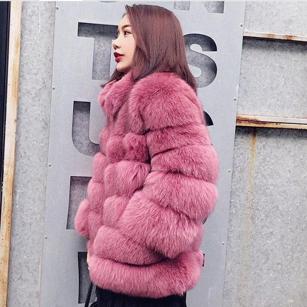 S-3XL plus size Winter New fashion brand Fake  fur jacket female warm good quality warm thicker Faux fur coat wj1636 dropship