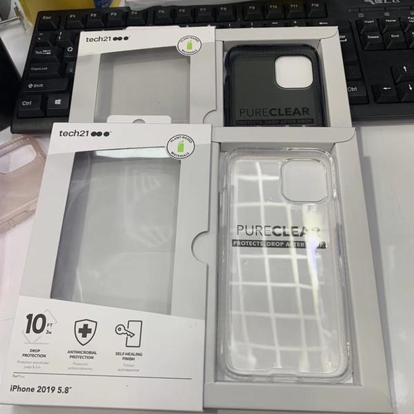 TEC21 Goutte d'impact protecteur transparent D3O souple TPU Tec 21 Housse pour iPhone 11 11Pro 11Pro max avec le paquet de détail