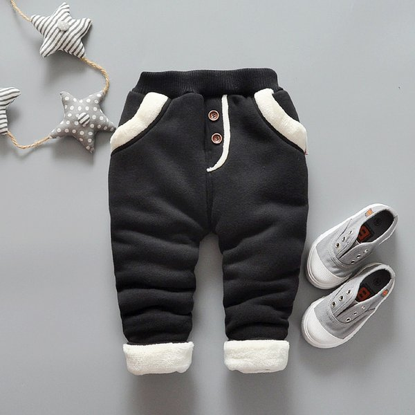good quality 2019 new baby winter warm pants for girls&boys children velvet thick leggins pants toddler girls newborn causl trousers