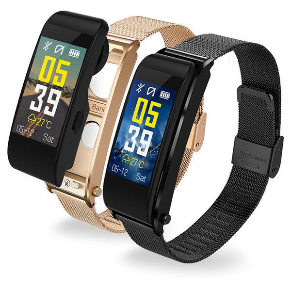 Smart Bracelets Bluetooth Headset Y6 Driving Running Call Wireless Earphone Heart Rate Monitor Blood Pressure Smartwatch For Android and IOS