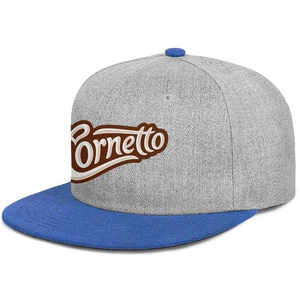 Cornetto Symbol Herren flache Baseball Mütze Grafik einstellbare Frauen tanzen Mütze Vintage Snapback Cap Mesh Angeln Hüte
