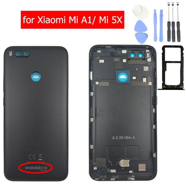 20b52fbb3ff Original for Xiaomi Mi A1 Battery Back Cover Rear Housing Metal Door for Xiaomi  Mi 5X