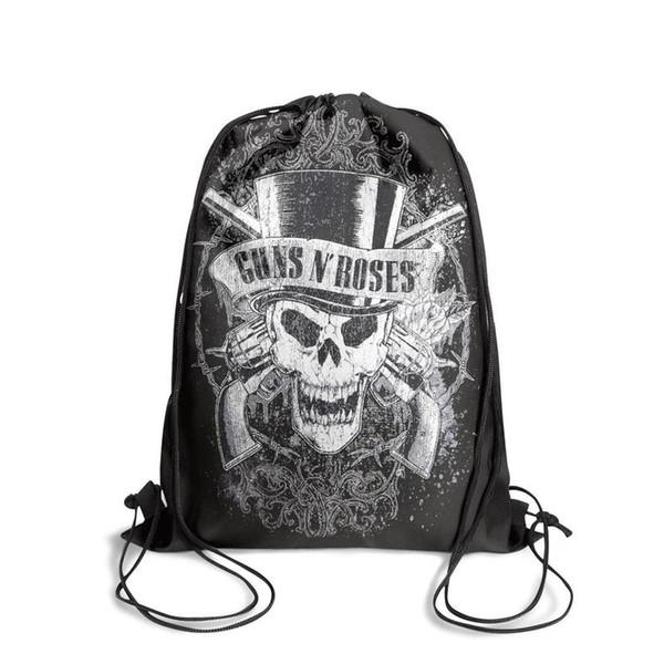 Esportes mochila Guns N 'Roses Faded Crânio legal bonito Classicpackage conveniente edição limitada mochila escola Viagem Praia puxar corda Backp
