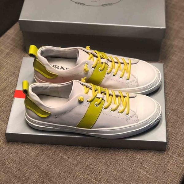 Новые мужские кроссовки ARRIVEL Высочайшее качество yellwo шнурков украсить дно Роскошные бренды случайные подсобные обуви бегуны # 1F