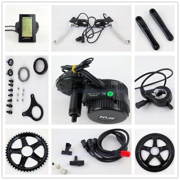 Bafang BBS02 48V 750W Ebike Motor with C965 LCD 8FUN mid drive Electric Bike conversion kits