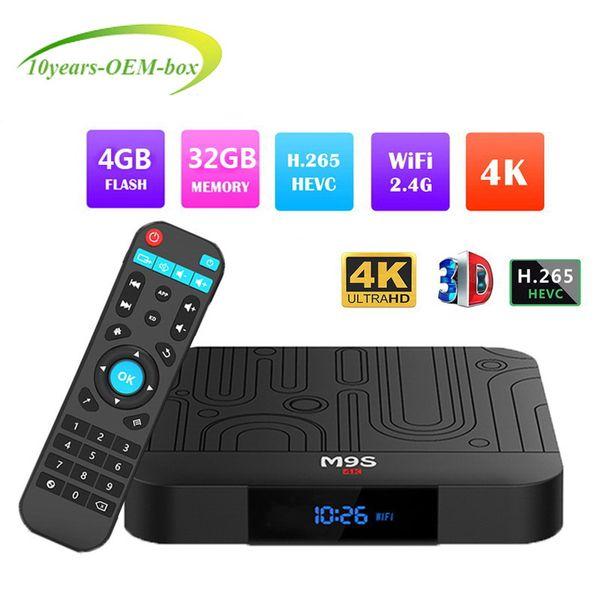1 PCS M9S J1 4GB 32GB TV BOX Android 8.1 RK3328 Quad Core Rockchip Smart IPTV BOX 4K H.265 WIFI Streaming Media Player Better H96 X96 MAX