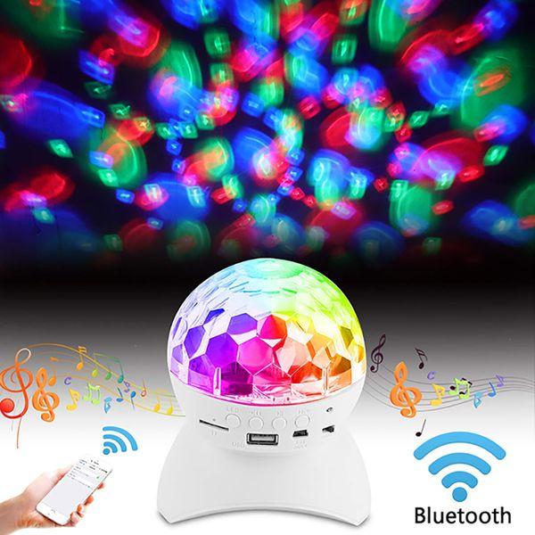Altavoz Bluetooth bola mágica regulador del RGB LED de escenario deslumbrantes de luz LED de la lámpara giratoria para KTV del partido del disco de DJ House Club