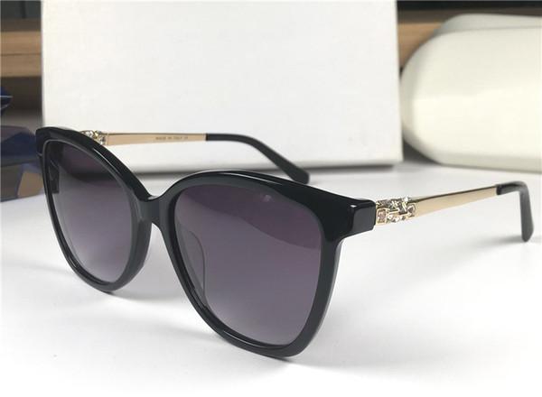 Nouvelles femmes lunettes de soleil mode yeux de chat papillon lunettes de soleil lunettes de conception carrée de diamant UV400 Protection Venez avec étui