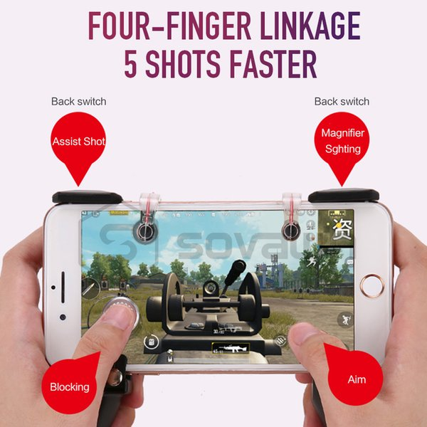 3 IN 1 Pubg Mobile Game Controller Gamepad Aim Key L1 R1 Trigger Fire  Button Portable Pubg Game Pad Handle Shooter For Android Pc Joypad Pc  Joysticks