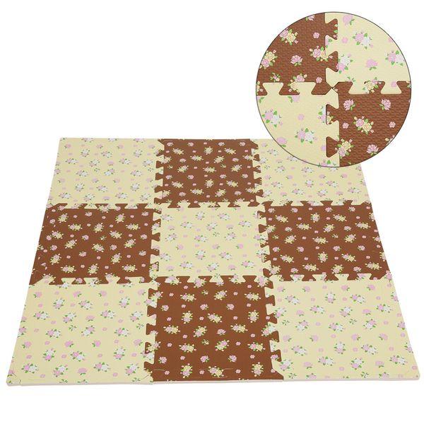 1 pc 30x30x1.0 cm bébé tapis de sol en mousse de verrouillage interchangeable tapis de jeu jaune décorations de noël pour la maison