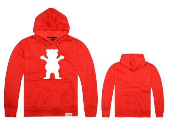 Мода новый горячий продавать! осень и зима новое прибытие для grizzly мужчины и женщины любят спортивная одежда кофты хорошее качество мужчины хип-хоп толстовки
