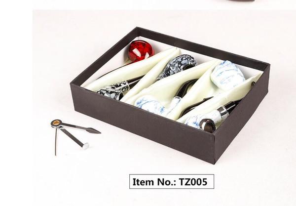 Pipe en bois 6 une longueur de boîte cadeau 16CMsmoking pipe TZ00