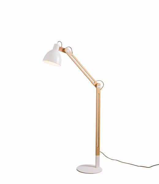 2019 Floor Lamps Ac110v Led Floor Lamp Natural Wooden Swing Arm Table Lamp For Living Rooms Bedrooms Studio Study And Office With Light Source From