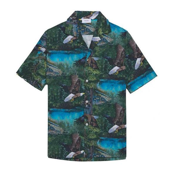 Rhude T-Shirt Männer Frauen Adler T-Shirts Rhude Flamingo Kanye West Rhude T-Shirt 1: 1 Hochwertige Top T-Shirts