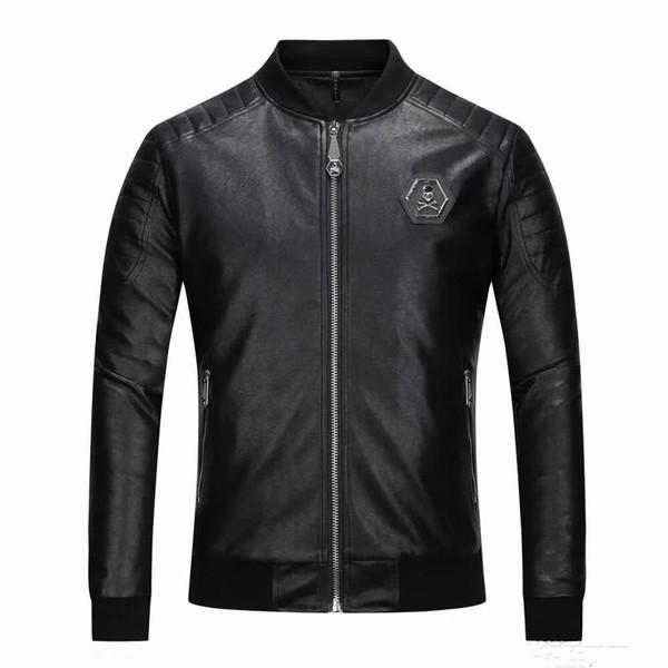 2019 abrigo de piel sintética para hombre de marca de alta calidad piloto de moda borrador importado chaqueta de gamuza pp camisa delgada para hombre