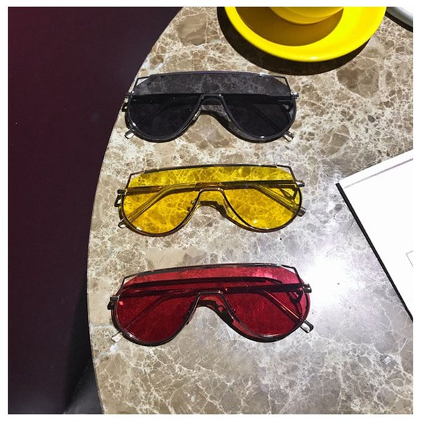 Fashion Sunglasses Windproof Candy Color Eyeglasses POP Stylish Brand Designer Sunglass Motor Cycling Glasses Mono Lens Outdoor Eyewear HOT