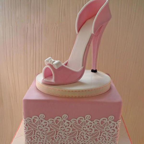 9pcs/Set High-Heeled Shoes Fondant Cake Mould Sugarcraft Baking Cutter Mold Fondant Cake Decorating Tools