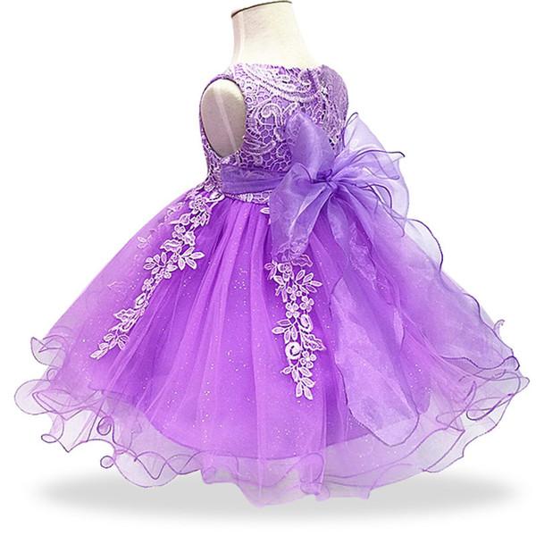 Baby Girls Dresses For Baby Girls Princess Dress 1 Year Birthday Dress Infant Party Christening Dress Newborn Clothing 0-2 Year J190528