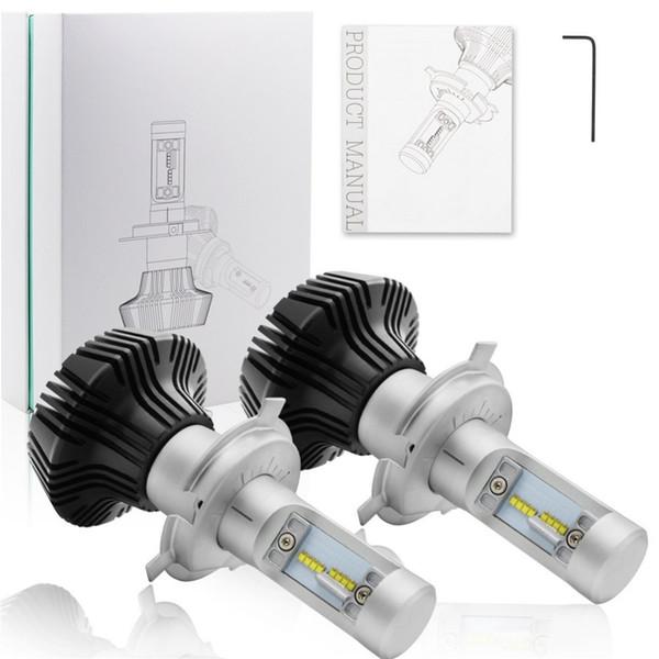 2 x ad alta potenza H4 K6 lampadine del faro luci di azionamento del LED 9003 HB2 16000LM 6000K Bianco High / Low fascio Bulbi
